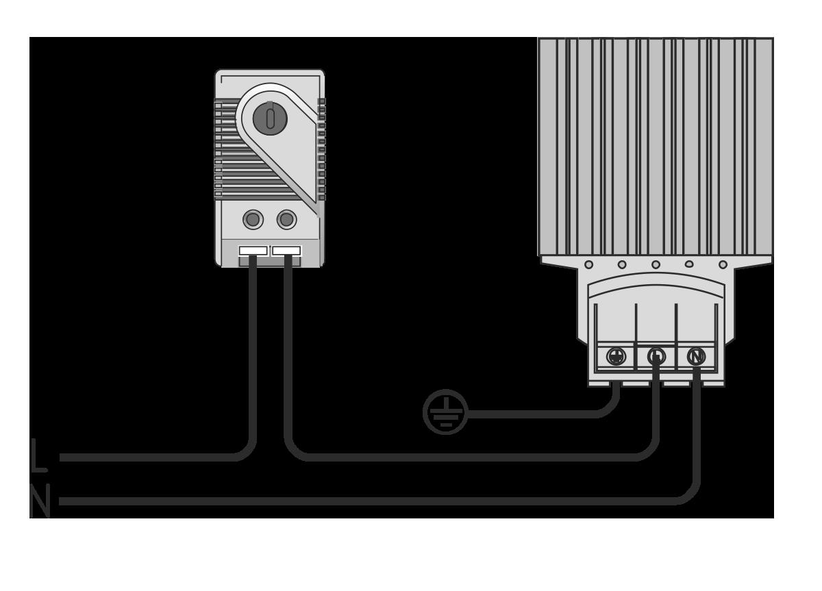 Схема подключения щитового нагревателя МТК-ЕНХХХ