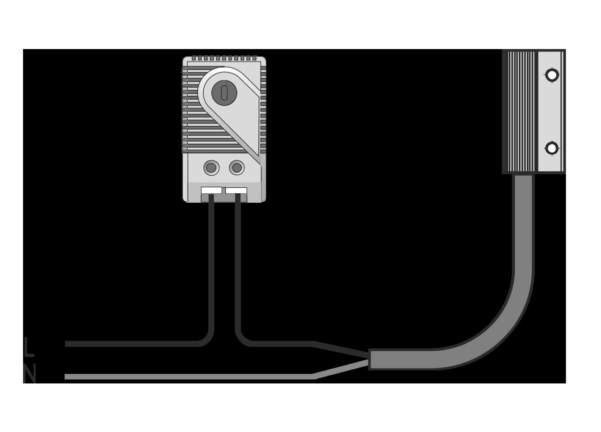 Схема подключения щитового нагревателя МТК-SH10